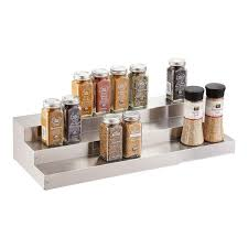 Stainless Steel Wall Spice Rack 3 Tier Stainless Steel Expanding Shelf The Container Store
