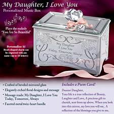 Personalized Music Box Gift Music Boxes For Daughters My Daughter I Love You