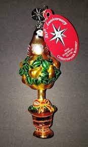christopher radko ornament partridge perch gem 1011642