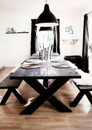 Picnic Table Dining Room 32 Indoor Picnic Table Ideas For A Relaxed Feel Digsdigs