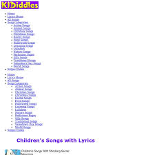 children s songs with downloadable songs and lyrics