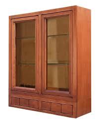 oak kitchen wall cabinet with glass doors sagehill designs ahw3642gd6