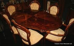 inlaid dining table and chairs walnut inlaid dining table 6 chairs