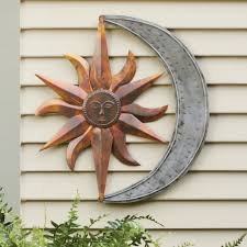 Celestial Home Decor by Outdoor Metal Wall Art Sun Shenra Com