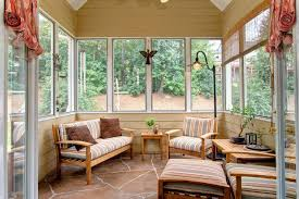 Ideas For Decorating A Sunroom Design Living Room Artistic Sunroom Design With White Windows And Wood