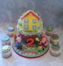 peppa pig u0026 george giant cupcake cake by idocupcakes01 cakesdecor