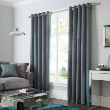 geo teal lined eyelet curtains dunelm