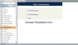 call tracking and monitoring access database template access