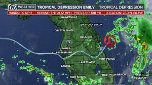 Daytona State College Map by How Did Tropical Storm Emily Form So Quickly Wtsp Com