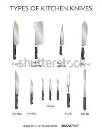 types of knives kitchen vector illustration types kitchen knives stock vector