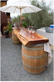 whiskey barrel bar table whiskey barrel table diy noden collective