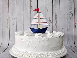 mini paper sailboat cake topper