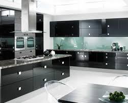 meuble de cuisine noir meuble de cuisine noir et blanc cool cuisine moderne blanche et