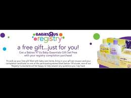babies registry baby freebies babies r us registry gift bag