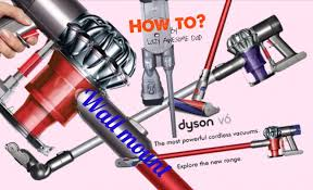 how to wall mount your dyson v6 handstick cordless vacuum youtube