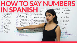 learn how to say numbers in spanish youtube