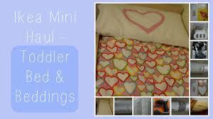 toddler bed u0026 beddings ikea mini haul youtube