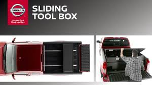 nissan frontier dimensions 2017 sliding tool box for trucks genuine nissan accessories youtube
