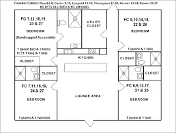 cabin layout plans lodging cabins cing nra whittington center