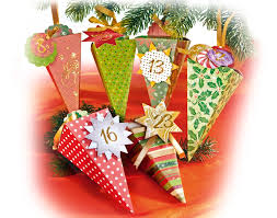 24 christmas cones advent calendar craft kit