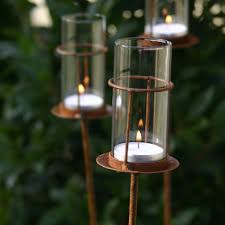 set of three tea light stakes puddy