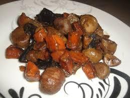 cuisiner marrons frais poelée de marron chignon et pdt un amour de cuisine