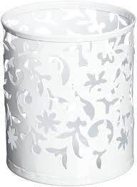 White Desk Accessories by Amazon Com Design Ideas Vinea Pencil Cup White Home U0026 Kitchen