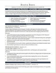insurance resume exles insurance claims processor resume sle