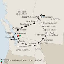 Canadian Rockies Map Tour Western Canada Canadian Rockies Vancouver Vacation