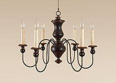 Country Style Chandelier Yorktown Colonial Chandelier With 3 Lights House Of Antique