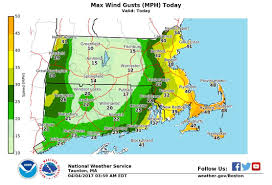 Map Of Massachusetts Coast by Massachusetts Weather Forecast Heavy Rains Could Bring Minor
