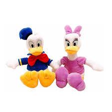 30cm 2pcs lot genuine donald duck daisy duck doll plush toy