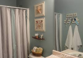 bathroom fancy beach themed bathroom design ideas with light blue