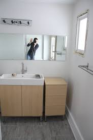 Installing New Bathroom Vanity Installing A Piece Of Raw Mirror On The Wall Is Something That
