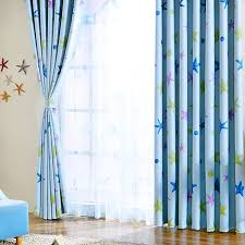 Nursery Curtains Next The Funky Ba Blue Polyester Bedroom Curtains With Regard