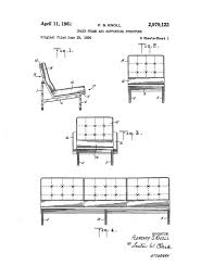 Florence Knoll Sofa Replica by Patent Application Rendering Florence Knoll Sofa Chairs