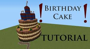 minecraft tutorial birthday cake hd