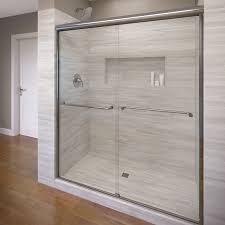 Bypass Shower Door Basco Celesta 48 X 72 Frameless Bypass Sliding Shower Door