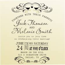 diy wedding invitation vintage design typewriter font rubber stamp