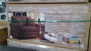 synergy home albany twin sleeper chair costco weekender