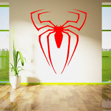 superhero home decor spiderman superhero logo spider vinyl wall sticker home decor