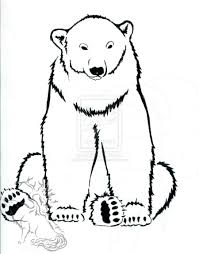 polar bear outline tattoo design real photo pictures images and