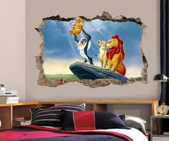 lion king wall decals ebay lion king simba smashed wall decal graphic wall sticker decor art disney h384