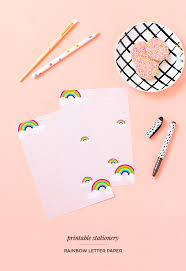 free printable rainbow stationery printable rainbow letter paper make and tell