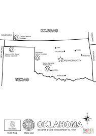 Map Of Oklahoma State by Map Of Oklahoma Coloring Page Free Printable Coloring Pages