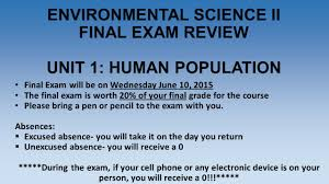 environmental science ii final exam review unit 1 human