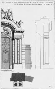 file hôtel de lassay plan élévation et profil de la porte