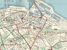 Edinburgh Map And Leith Map 1955 Leith