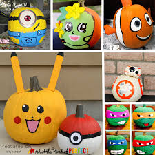 No Carve Pumpkin Decorating Ideas 10 Halloween No Carve Pumpkin Ideas Of Favorite Kids Characters