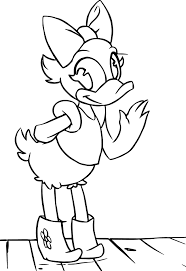 daisy duck coloring page wecoloringpage